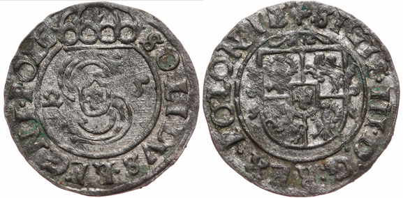 Awers: 2 S 5 SOLIDVS.REGNI.POLO      Rewers:   SIGIS.III.D:G:REX.POLONIE+