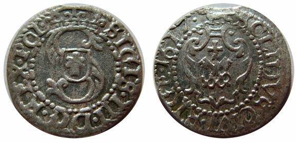 Awers:  S   SIGIS.III.D G.REX.POL.   Rewers:   SOLIDVS.CIVI.RIGE.1617.