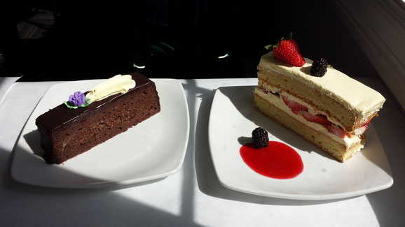 Parve Chociolate Soufle Torte and Summer Shortcake with Raspberry Sauce