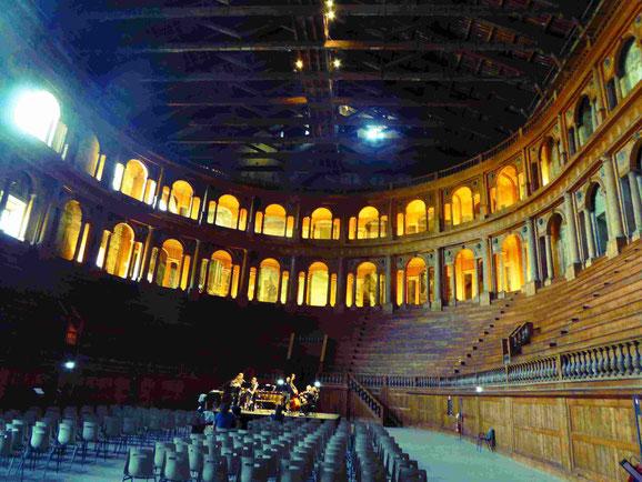 Das hölzerne Teatro Farnese in Parma