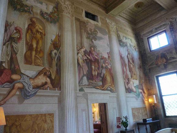 Fresken von Zelotti, Villa Emo