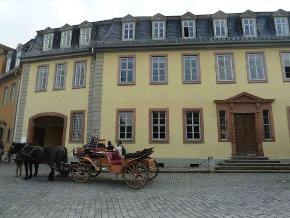 Goethehaus mit Kutsche