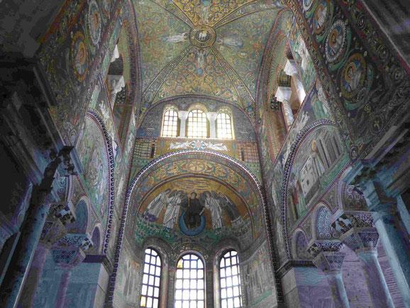 Mosaike in der Kirche San Vitale, Ravenna