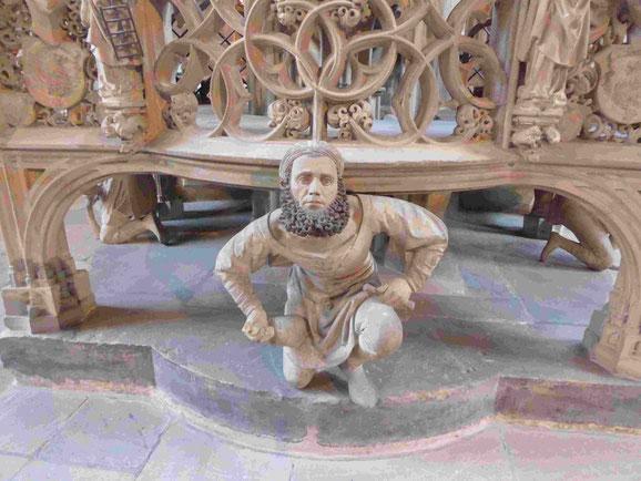 Selbstbildnis eines Steinmetzes in der St. Lorenzkirche