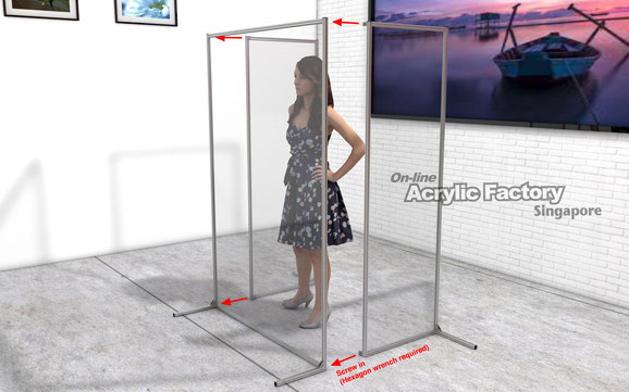 Acrylic partition Type18 customisation1 assembly