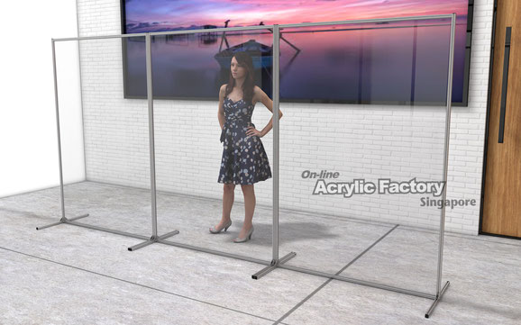 Acrylic partition Type18 silver 3pcs