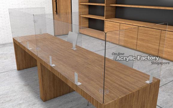 Acrylic shield Type16 two desk