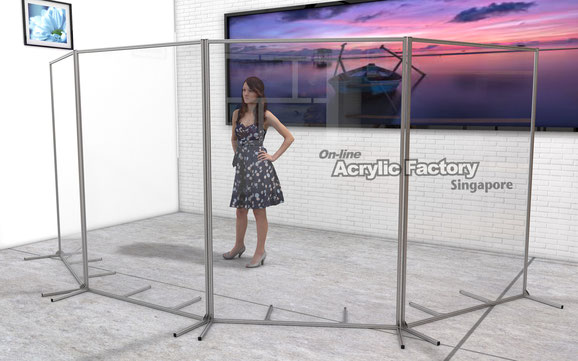 Acrylic partition Type18 silver 4pcs