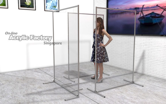 Acrylic partition Type18 multiple layout