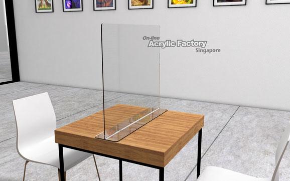 Acrylic shield Type7 table 2pax