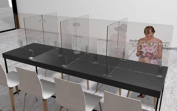 Acrylic shield Type16 Canteen Table