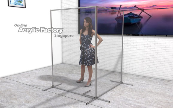 Acrylic partition Type18 2pcs