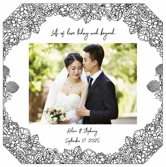 acrylic photo frame wedding gift