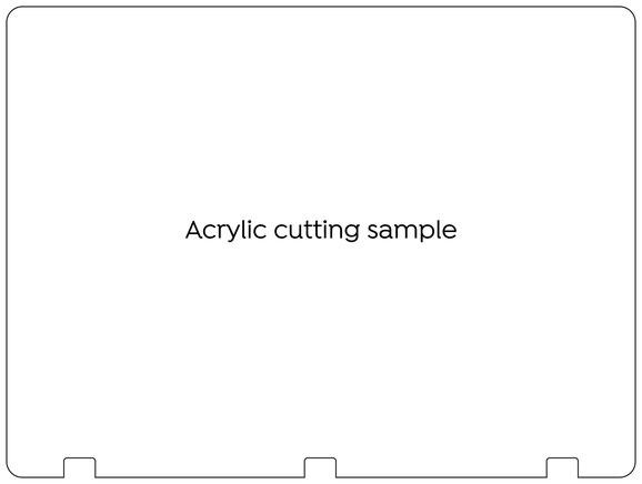 Type15 acrylic cutting shape