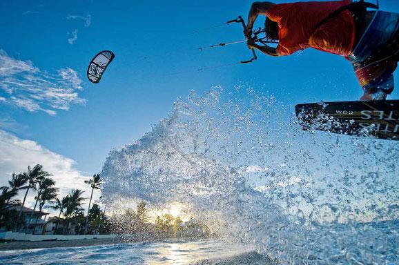 Surfe- und Kite-Szene Dominikanische Republik, Karibische Inseln, Karibik