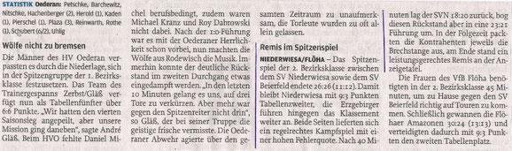 Freie Presse Flöha vom 09.11.2013