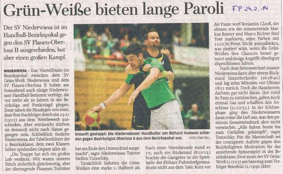 Freie Presse Flöha vom 24.02.2014