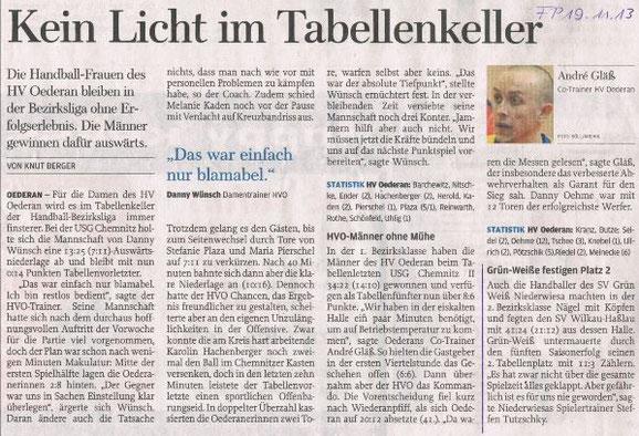 Freie Presse Flöha vom 16.11.2013