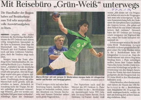 Vorbericht - Freie Presse 24.01.2014