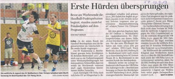 Freie Presse Flöha vom 10.09.2013