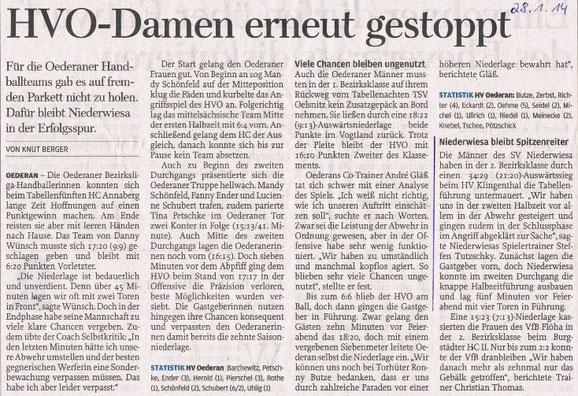 Nachbericht - Freie Presse 28.01.2014