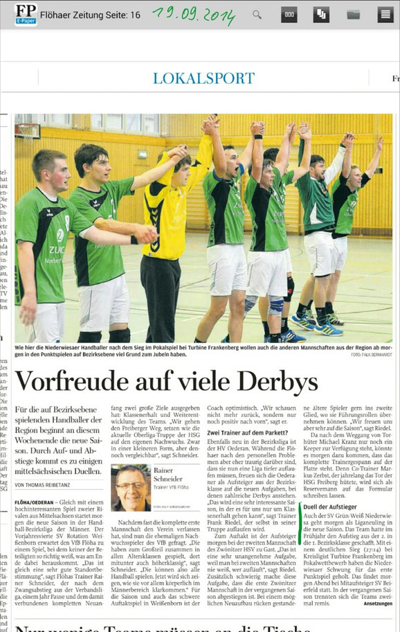 Vorher: Freie Presse Flöha vom 19.09.2014