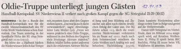 Freie Presse Flöha vom 12.11.2013