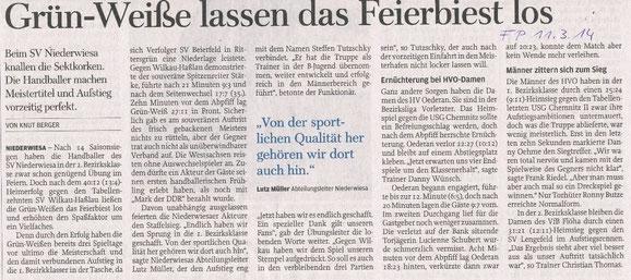 Freie Presse Flöha vom 11.03.2014