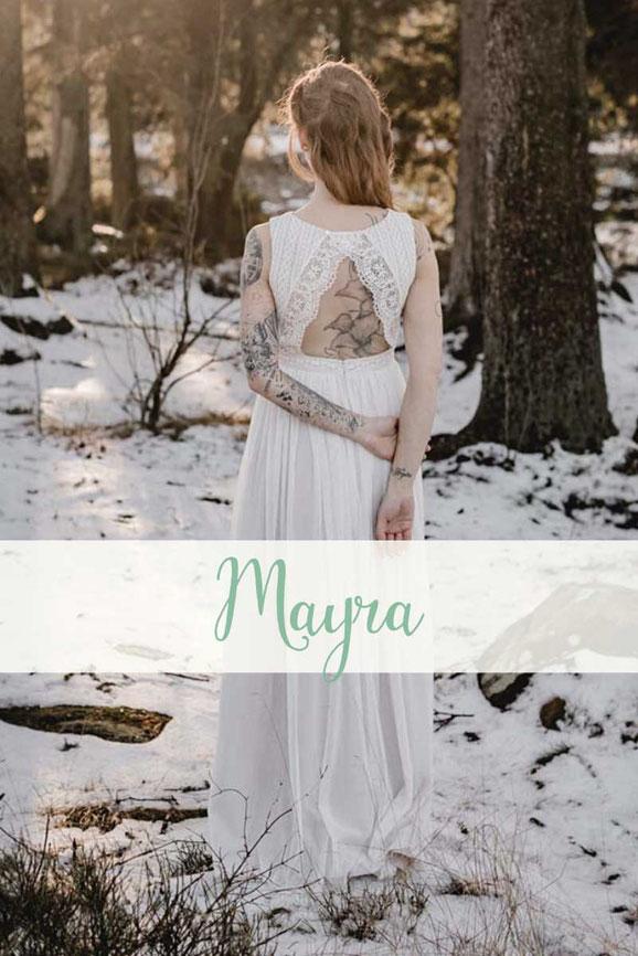 Brautkleid ~ Mayra ~ natürliches Bio Brautkleid - Die neue elementar Brautkollektion NO FAIRY TALE besticht durch natürliche Lässigkeit und nachhaltige Materialien.