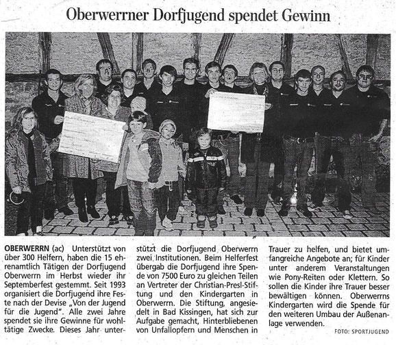 03.12.2010 Schweinfurter Tagblatt