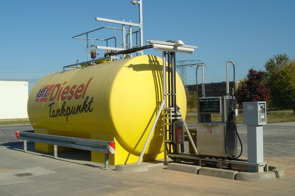 Diesel Tankstelle bft in Lübbenau