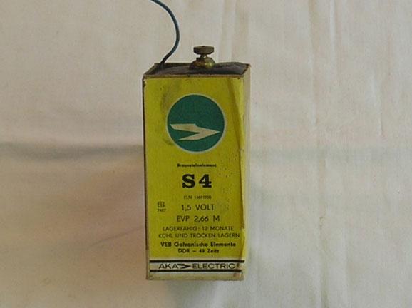 Braunstein Element ( Batterie ) aus der DDR von 1950