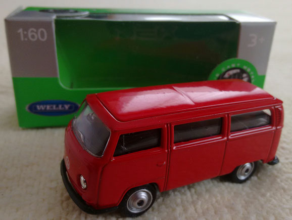 FURGON VOLKSWAGEN T2 DE WELLY,ESCALA 1:60,MADE IN CHINA.
