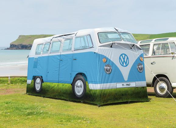 Campingzelt im Design des VW T1 Bullis, 4 Personen,Schlafkabinen