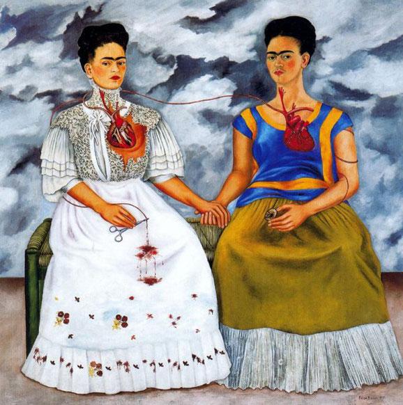 Peinture de Frida Kahlo, Les Deux Frida