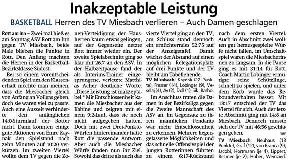 Bericht im Miesbacher Merkur am 12.2.2019 - Zum Vergrößern klicken