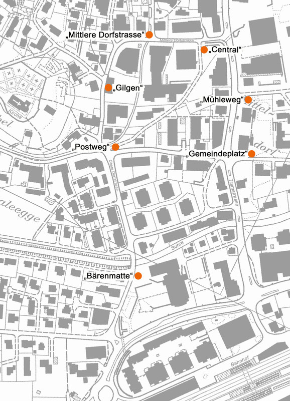 Auf der Karte sind die einzelnen Standorte der Plakate zu sehen