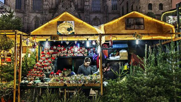 Programa y Horarios de la Fira de Santa Llúcia en Barcelona