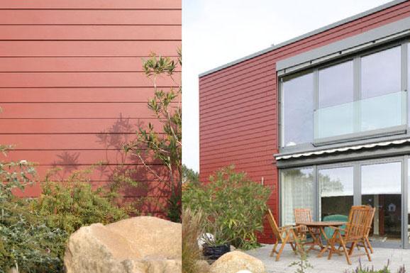 Eternit Fassaden Paneele Cedral glatt rot  Die Fassaden Paneelen von Eternit sind extrem Langlebig  und brauchen dabei nicht weiter behandelt werden. Es ist fast jede Farbe denkbar, aber auch in Form und Größe sind diesem Werkstoff kaum Grenzen gesetzt.