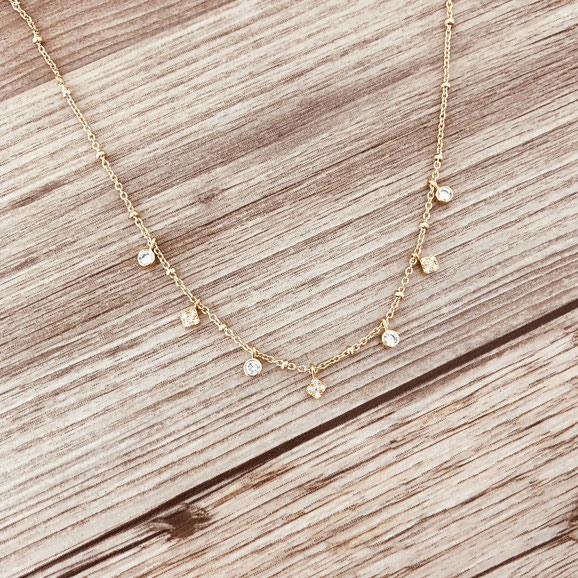collier choker necklace gwapita bijoux français france createur fin doré plaqué or zirconium charms pendants