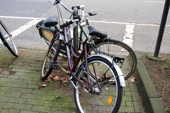 Fahrradwracks sind immer wieder ein Ärgernis.