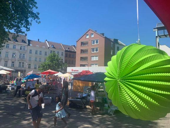 Der Marktplatz an der Berliner Straße war der Ort des Geschehens.