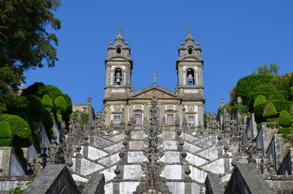 Bom Jesus do Monte Sanctuary near Braga, Portugal