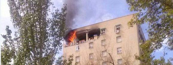 Madrid, 3 heridos hospitalizados, 22 personas atendidas por los sanitarios