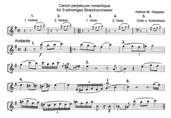 Canon perpetuum | Circelcanon romantique
