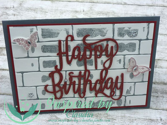 Stampin' Up! Happy Birthday Thinlits