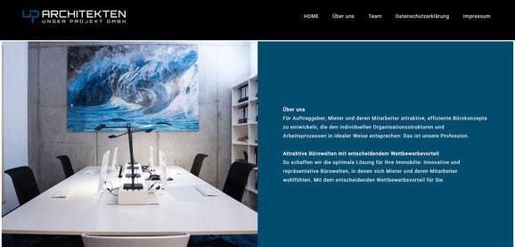 Webseite up Architekten
