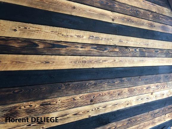 bois brûlé aménagement extérieur