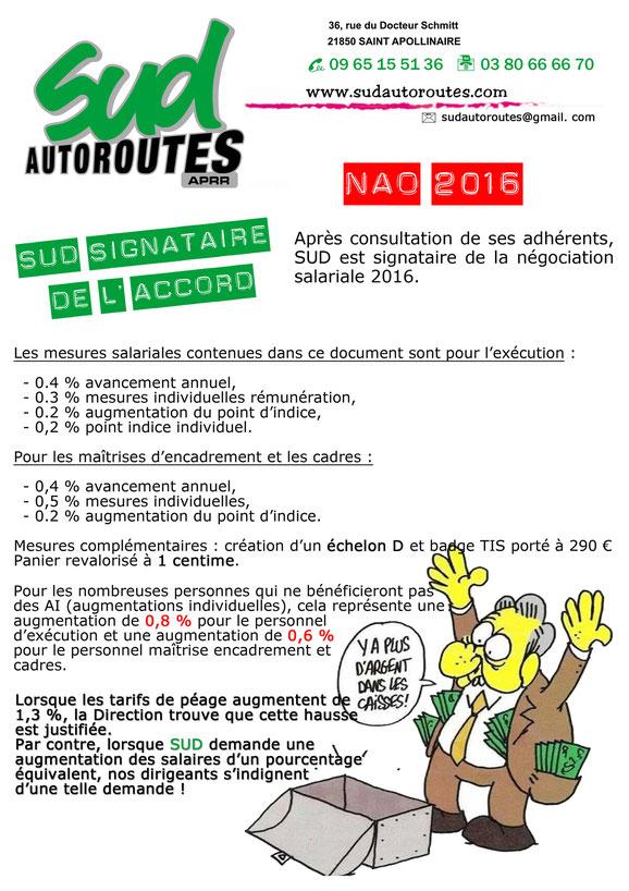 SUD autoroutes APRR signataire de l'accord