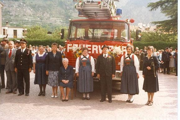 Einweihung der Drehleiter im Juni 1984.